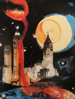 Manhattan Skyline  1972 Limited Edition Print by Salvador Dali