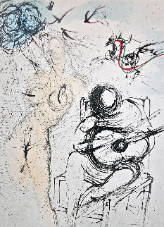 Femme a La Guitare 1967 Limited Edition Print by Salvador Dali