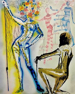 Fashion Designer: The Ballet of Flowers/Coutuier 1980 Limited Edition Print by Salvador Dali