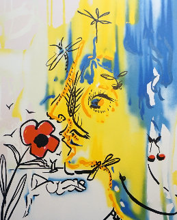 Fleurs Surrealiste Vanishing Face 1980 Limited Edition Print by Salvador Dali