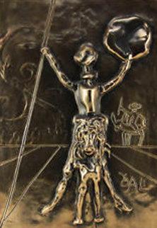 Don Quixote   Bronze  Bas Relief Sculpture 39x32 Sculpture - Salvador Dali