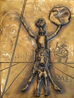 Don Quixote, Bronze Bas Relief Sculpture 1979 26 in Sculpture by Salvador Dali