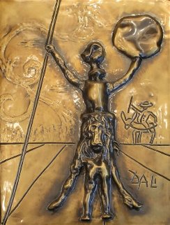 Don Quixote, Bronze Bas Relief Sculpture 1979 26 in Sculpture - Salvador Dali