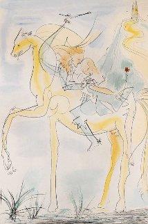 Couple En Cheval 1971 Limited Edition Print - Salvador Dali