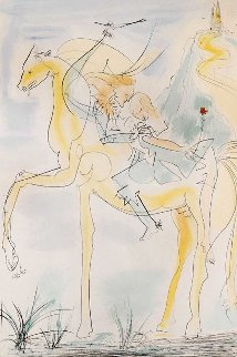 Couple En Cheval 1971 Limited Edition Print by Salvador Dali