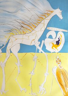 Conquest of Cosmos Saturnian Giraffe 1974 Limited Edition Print by Salvador Dali