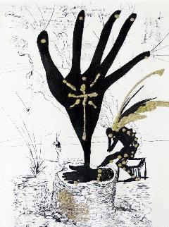 Fleur D'art (Les Amours Jaunes Suite) 1974 Limited Edition Print - Salvador Dali