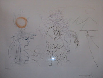Caesar and Cleopatra of Famous Lovers suite 1972 ( Early) Limited Edition Print - Salvador Dali