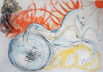 Our Historical Heritage Elijah (And the Chariot) Limited Edition Print by Salvador Dali