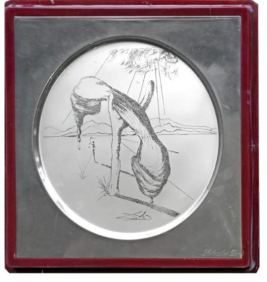 Sterling Silver Plate  1970 Other by Salvador Dali