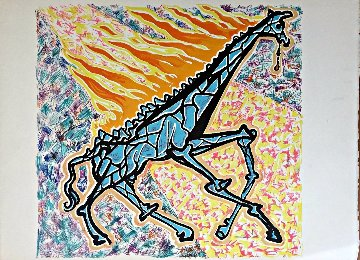 Burning Giraffe Limited Edition Print - Salvador Dali