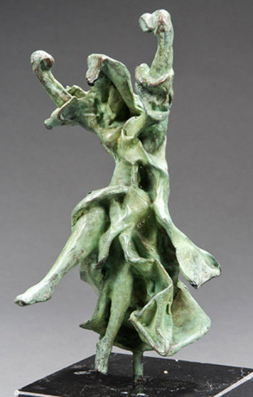 Carmen-Castanets Bronze Sculpture 1970  9 in Sculpture by Salvador Dali