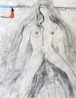 La Femme a Cheval 1968 Limited Edition Print by Salvador Dali