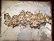 Last Supper Bas Relief Gold Sculpture Sculpture by Salvador Dali - 1