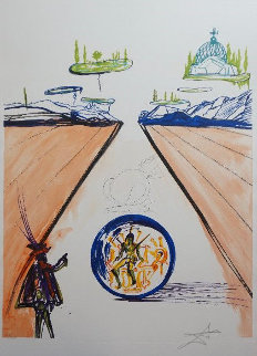 Imagination & Objects of the Future: Intra-uterine Paradisiac Locomotion 1975 Limited Edition Print by Salvador Dali
