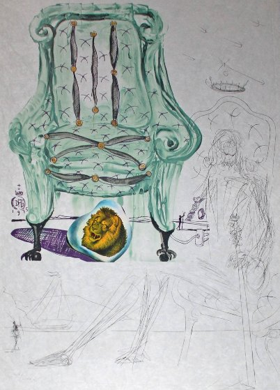 Imaginations & Objects of the Future:  Breathing Pneumatic Armchair 1975 Limited Edition Print by Salvador Dali