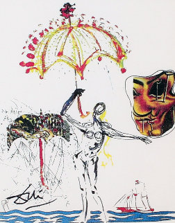 Imaginations and Objects of the Future:  Anti-Umbrella With Atomized Liquid 1975 Limited Edition Print - Salvador Dali