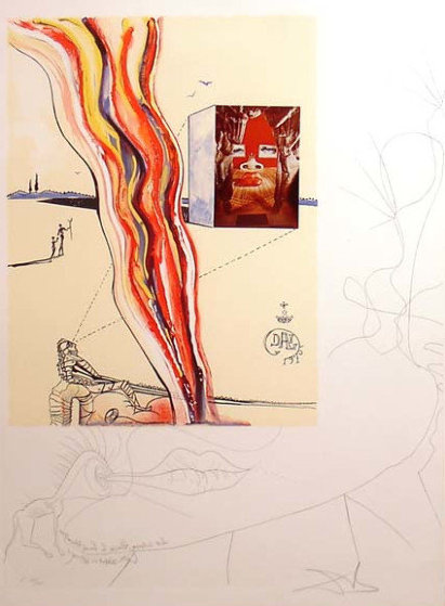 Imaginations & Objects of the Future: Liquid & Gaseous Television 1975 Limited Edition Print by Salvador Dali