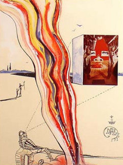 Imaginations and Objects of the Future: Liquid and Gaseous Television 1975 Limited Edition Print - Salvador Dali