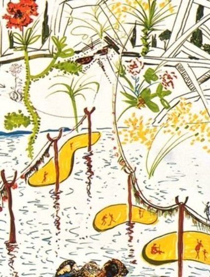 Imaginations and Objects of the Future: Biological Garden 1975 Limited Edition Print by Salvador Dali
