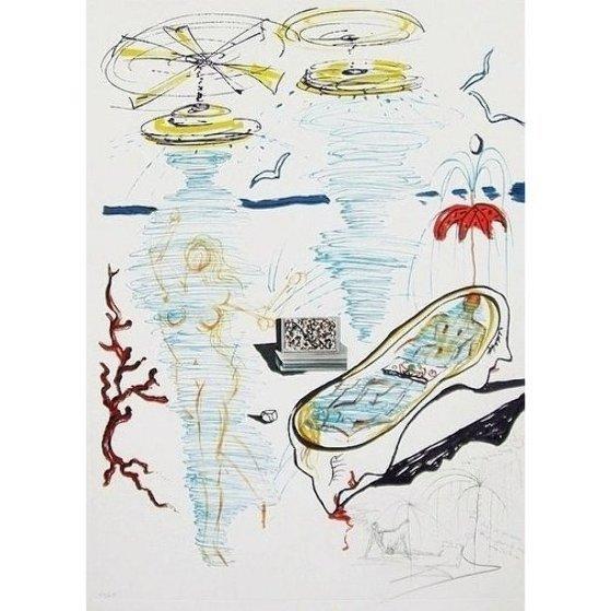 Imaginations & Objects of the Future: Liquid Tornado Bath Tub 1975 Limited Edition Print by Salvador Dali