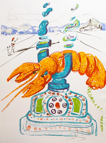 Imaginations and Objects of the Future: Cybernetic Lobster Telephone 1975 Limited Edition Print by Salvador Dali