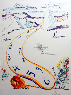 Imaginations & Objects of the  Future: Melting Space Time 1975 Limited Edition Print - Salvador Dali