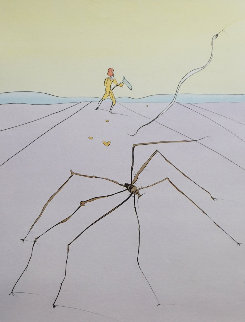 Japanese Fairy Tale the Weaver Spider 1976 Limited Edition Print by Salvador Dali