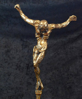 Christ of St. John on the Cross Bronze Sculpture 1974 13 in Sculpture by Salvador Dali