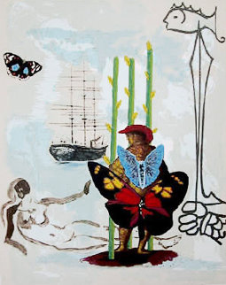 Dream of Freedom (Three of Staves) 1978 Limited Edition Print by Salvador Dali