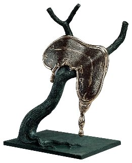 Profile of Time Bronze Sculpture 1984 20 in Sculpture - Salvador Dali