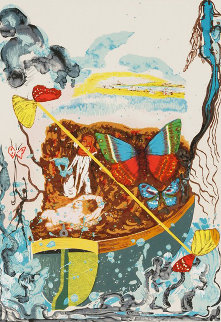 Papillons Anciennes, Suite of 4 1977 Limited Edition Print by Salvador Dali