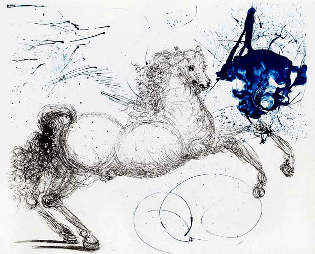 Pegasus: Mythology Series 1963 (Early) Limited Edition Print by Salvador Dali