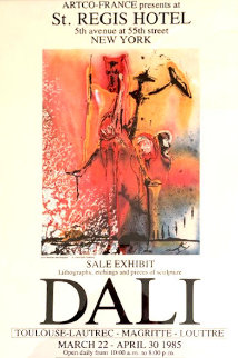 2 Rare Exhibition Posters (St. Regis Hotel) 1985 New York Limited Edition Print by Salvador Dali