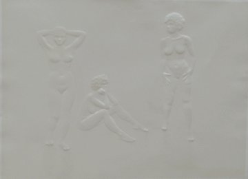 Three Graces of Cova D'or (With Woman's Face) 1975 Limited Edition Print by Salvador Dali