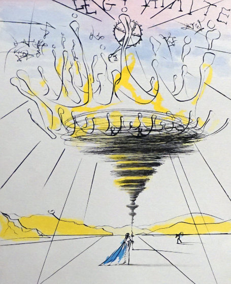 Legitimite - Process And Defamation Suite (1 etching by Dali, 7 etchings by Mittleberg) 19 Limited Edition Print by Salvador Dali