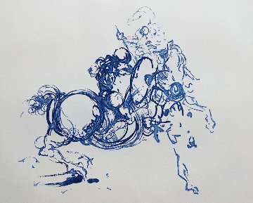 Jinete (Ultramarine) AP 1978 Limited Edition Print - Salvador Dali