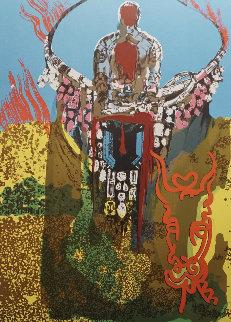 Bullfighter (Golden Calf) 1980 Limited Edition Print - Salvador Dali