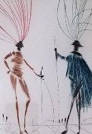 Two Gentlemen of Verona AP 1985 Limited Edition Print by Salvador Dali - 2