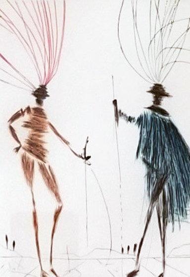 Two Gentlemen of Verona AP 1985 Limited Edition Print by Salvador Dali