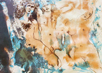 Three Hippies (Happy Days) 1970 Limited Edition Print - Salvador Dali