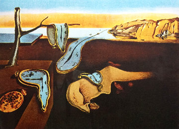 Changes in Great Masterpieces Persistence of Memory 1974 Limited Edition Print - Salvador Dali