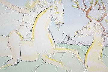 Bestiaire De La Fontaine: Le Cavalier Et Le Cerf 1974 Limited Edition Print - Salvador Dali