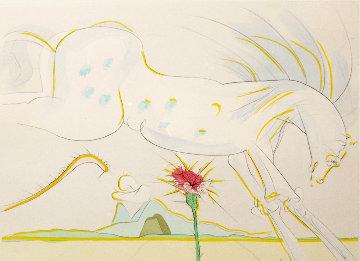 Le Bestaire De La Fontaine Dalinise: Le Cheval Et Le Loup 1974 Limited Edition Print by Salvador Dali
