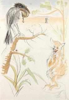 Les Bestaire De La Fontaine Dalenese: Le Corbeau Et Le Renard 1974 Limited Edition Print by Salvador Dali