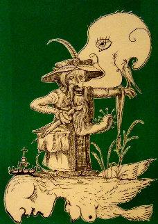 Untitled A: Les Songes Drôlatiques de Pantagruel 1973 Limited Edition Print by Salvador Dali