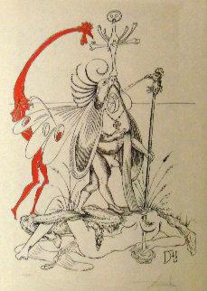 Untitled R: Les Songes Drôlatiques de Pantagruel 1937 Limited Edition Print - Salvador Dali