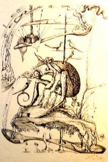 Untitled M:  Les Songes Drôlatiques de Pantagruel AP 1973 Limited Edition Print by Salvador Dali