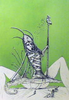Les Songes Droulatiques De Pontagruel: Untitled (O) 1973  Limited Edition Print by Salvador Dali