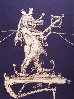 Les Songes Droulatiques Des Pantagruel: Untitled (W) 1973 Limited Edition Print by Salvador Dali